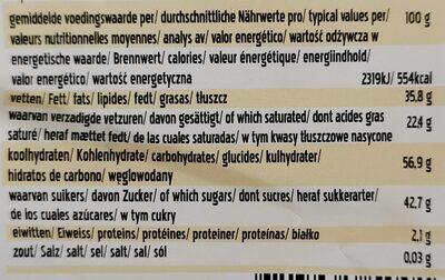 Bonvita's Classic Original - Cacao & Rice Chocolate Couverture - Nutrition facts - de
