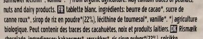 Rice drink vegan - White - Ingredients - fr