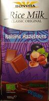 Rice milk raisins hazelnuts - Product - nl