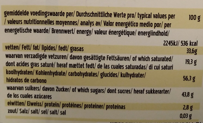 Rice milk raisins hazelnuts - Voedingswaarden - nl