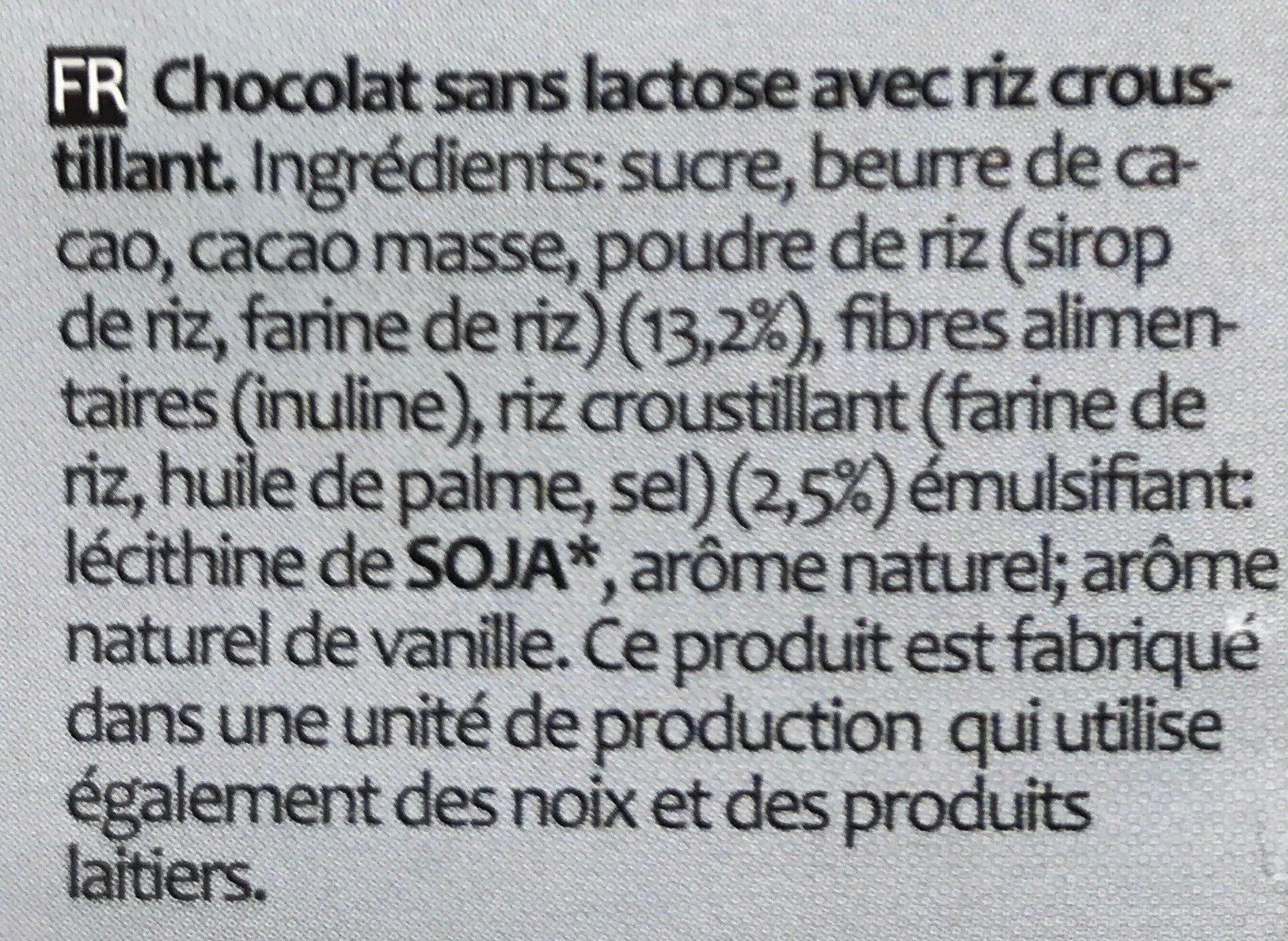 Crisp chocolate Vegan - Ingrediënten - fr