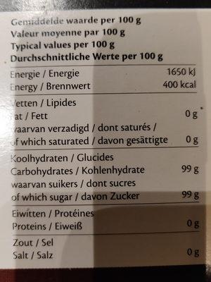 Carr.sugarcanne Lumps - Ingredients - en