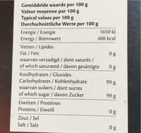 Carr.sugarcanne Lumps - Nutrition facts - es