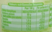 Mayonnaise bio ail - Nährwertangaben - fr