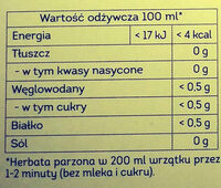 Herbata czarna z naturalnym aromatem - Nutrition facts