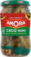 Amora Croq'Mini Cornichons aux 5 Epices et Aromates 205g - Produit - fr