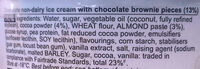 Ben & Jerry's Glace Pot Fudge Brownie 500ml - Ingredients - en