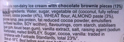 Ice cream - Chocolate Fudge Brownie non dairy - Ingredients