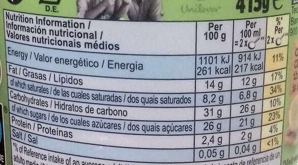 Chunky Monkey Non-Dairy Ice Cream - Nutrition facts