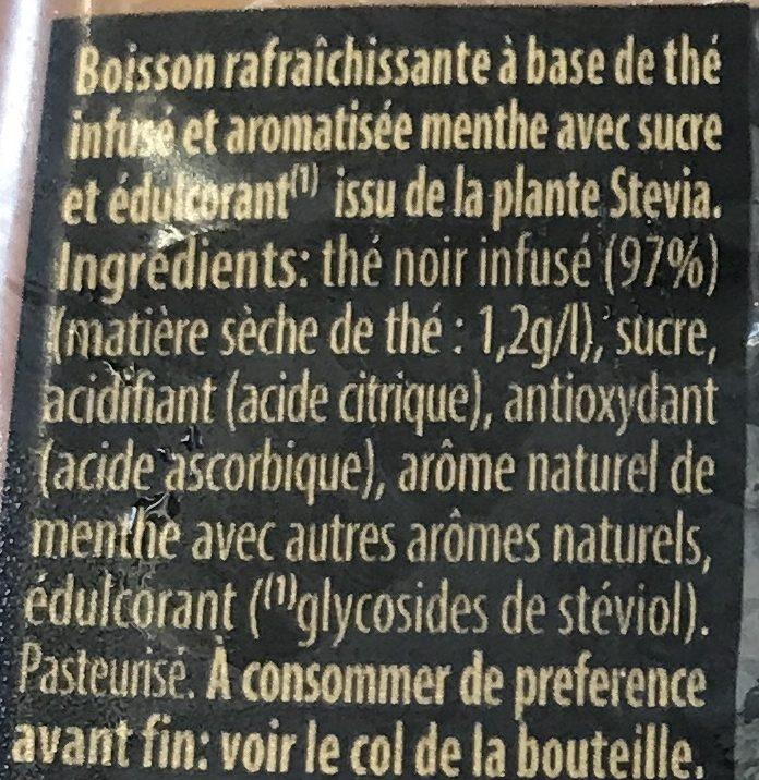 Thé glacé saveur menthe - Ingredienti - fr