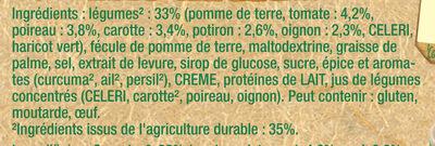 Knorr Douceur de 8 légumes Cup A Soup 48g 3 Sachets - Ingredients - fr