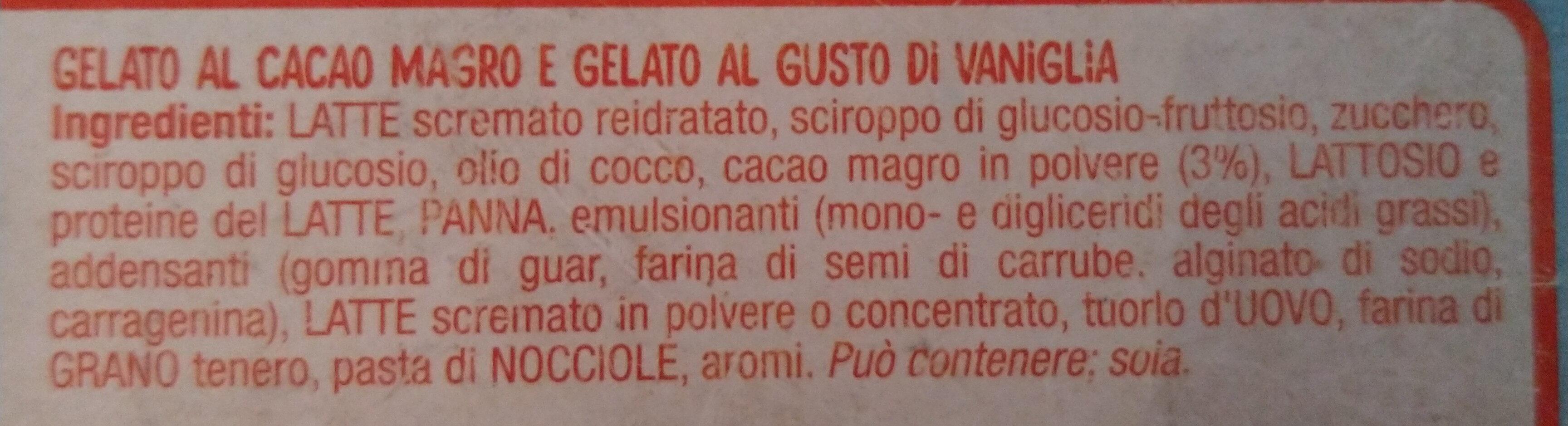 gelato tartufo e vaniglia - Ingredients - it