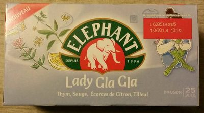 Elephant Infusion Lady Gla Gla 25 Sachets - Product - fr