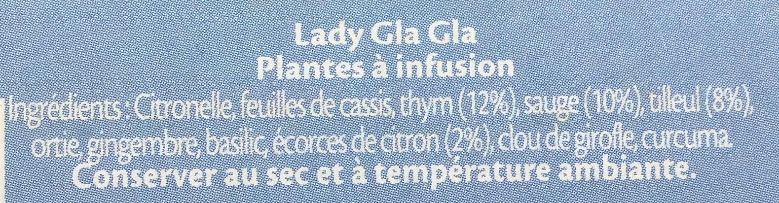 Elephant Infusion Lady Gla Gla 25 Sachets - Ingredients - fr