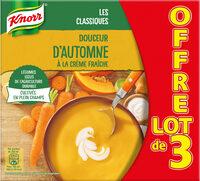 Knorr Soupe Liquide Douceur d'Automne à la Crème Fraîche Brique Lot 3x1L - Product - fr