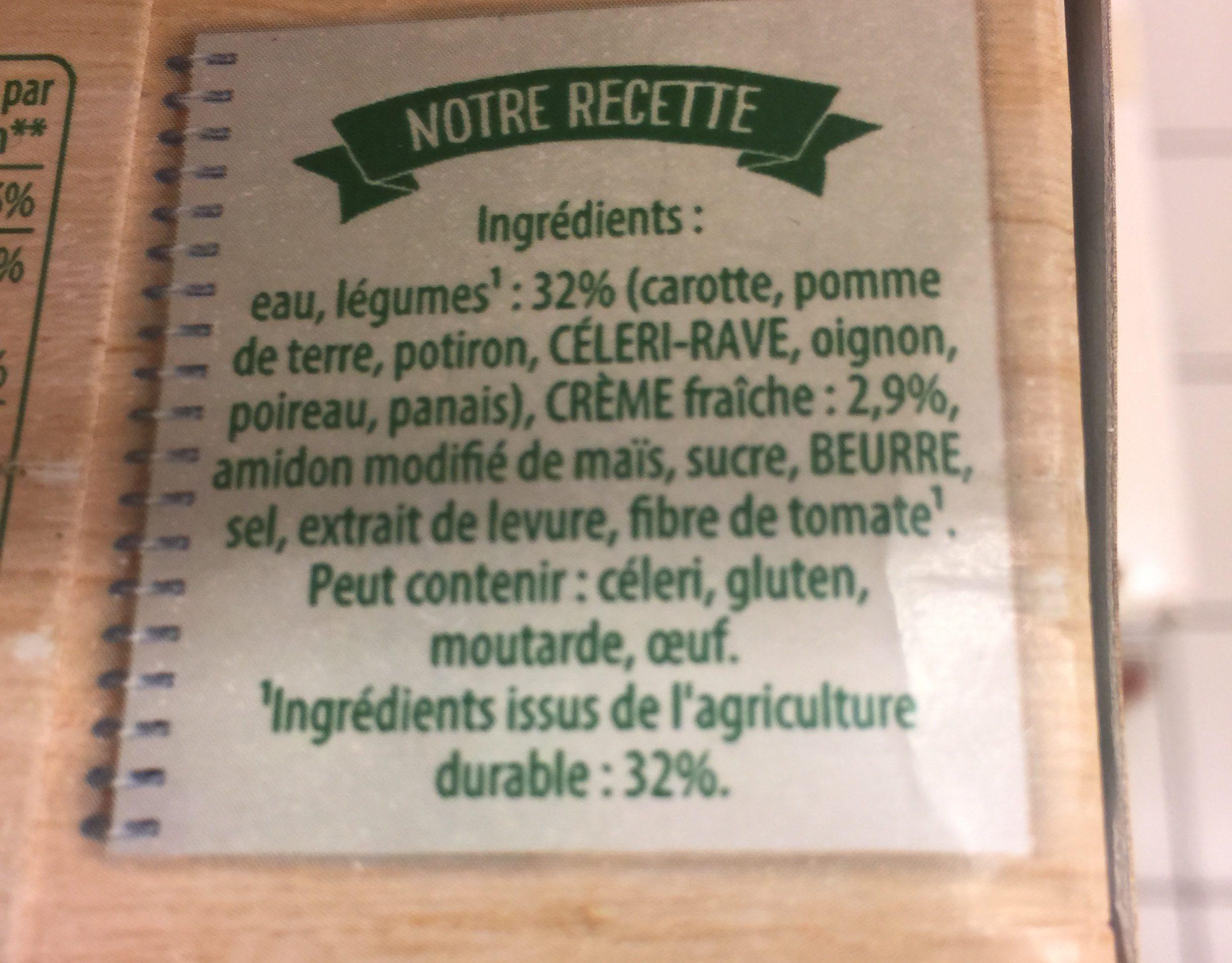 Knorr Soupe Liquide Douceur d'Automne à la Crème Fraîche Brique Lot 3x1L - Ingrediënten - fr