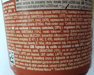 Magnum Amandes - Ingredientes