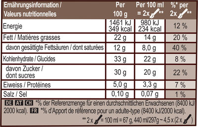 Glace Pot Vanille Amande 440ml - Nutrition facts - fr