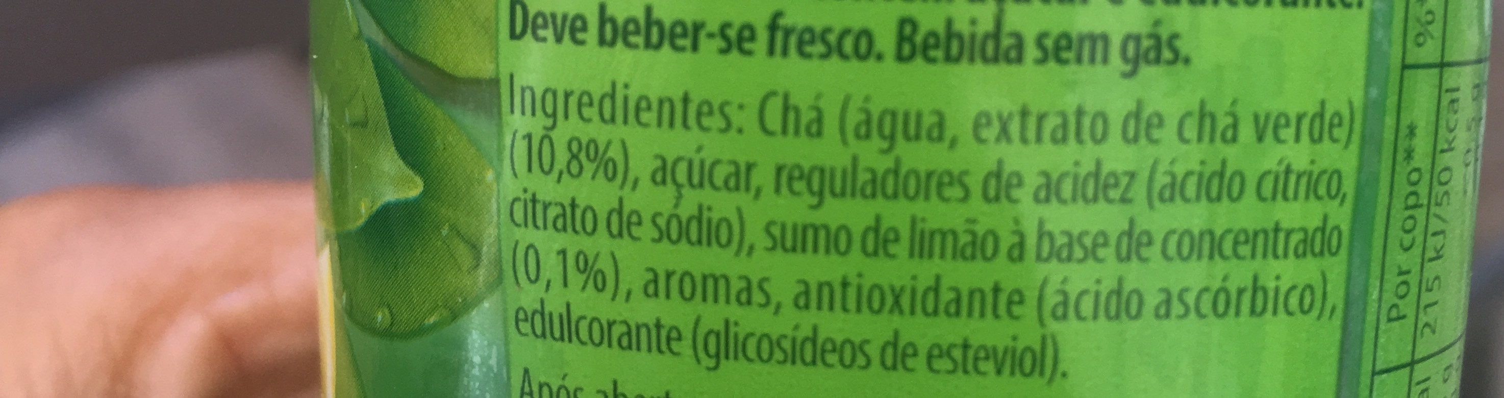 Cha verde limao - Ingredients - fr