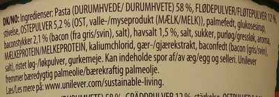 Knorr Pasta Snack Pot Carbonara - Ingredients