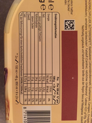 Cremissimo - Nutrition facts - de