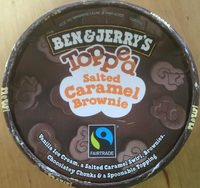 Ben & Jerry's Topped Salted Caramel Brownie - Product