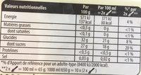 Carte D'or Sorbet Plein Fruit Citron Vert 1000ml - Valori nutrizionali - fr