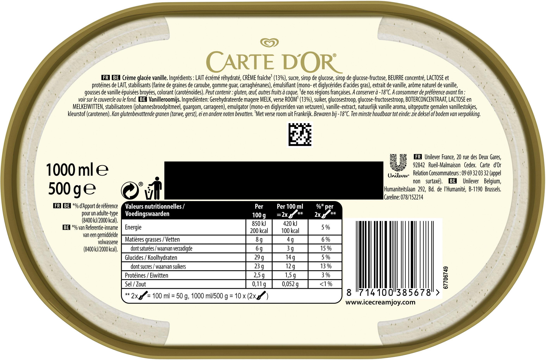 Glace Crème de Vanille, Les Authentiques - Ingredientes - fr