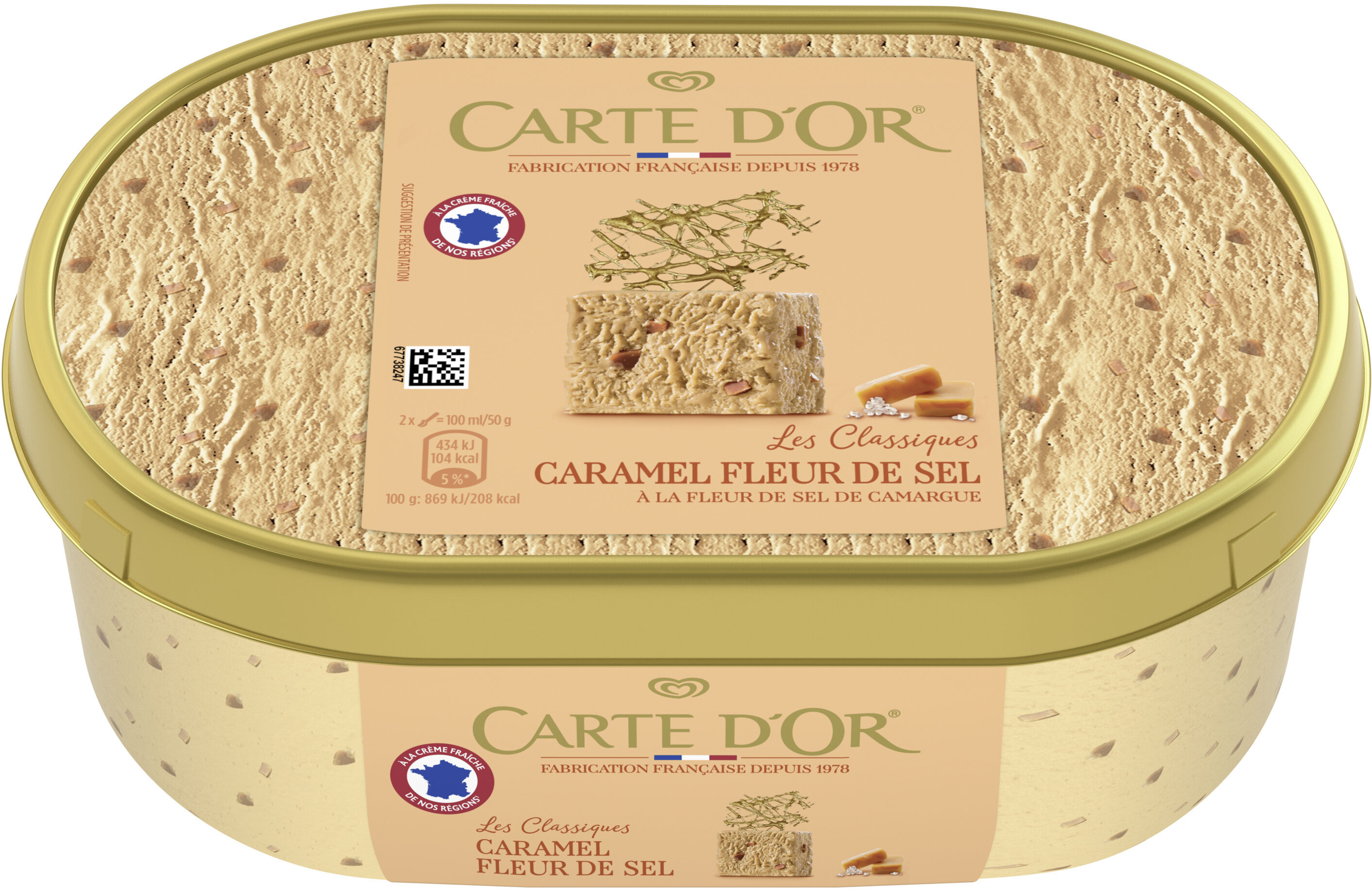 Carte D'or Les Authentiques Glace Caramel Fleur de Sel 1l - Producto - fr