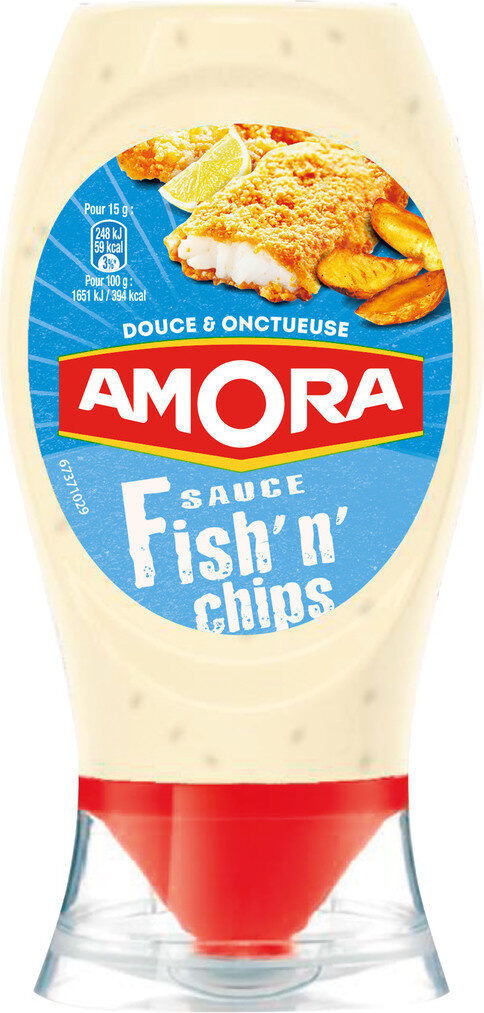 Amora Sauce Fish'n'Chips Flacon Souple 251g - Product - fr