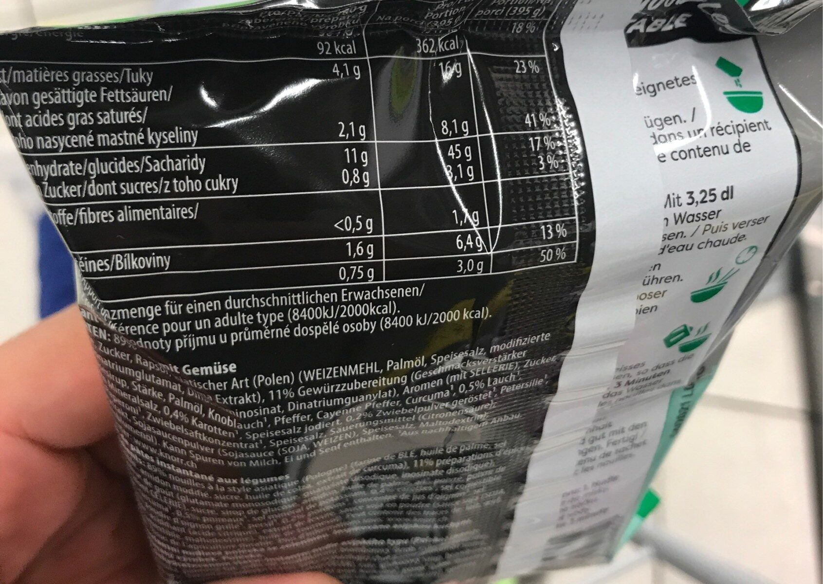Asia Noodles Vegetable - Informations nutritionnelles - fr