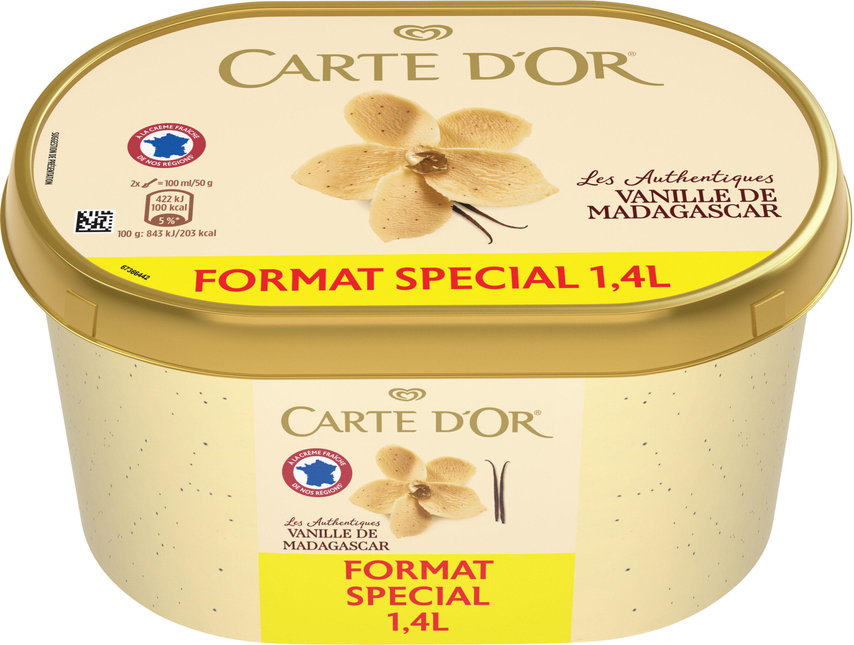 Carte D'or Les Authentiques Glace Vanille de Madagascar 1,4l - Prodotto - fr