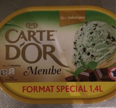 crème glacée menthe éclats chocolat noir - Produit