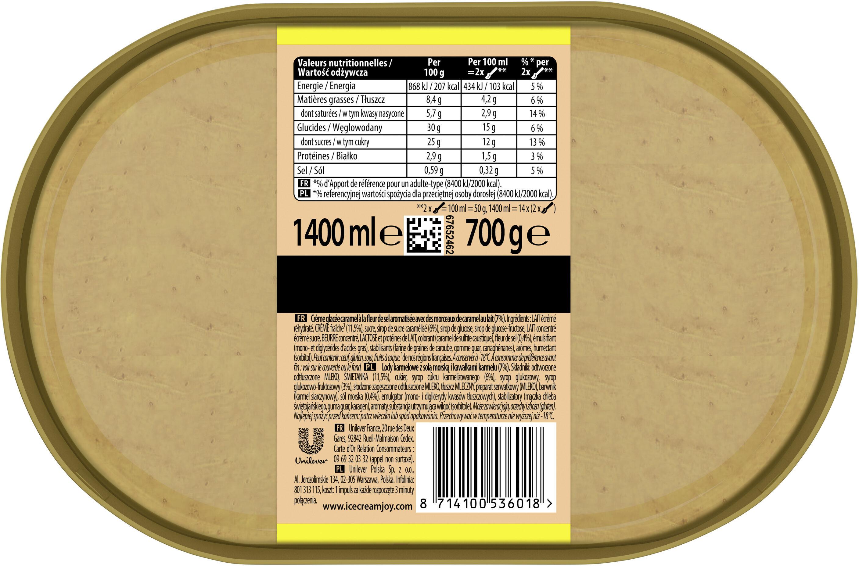 Carte D'or Les Authentiques Glace Caramel Fleur de Sel Format Spécial 1,4l - Informations nutritionnelles