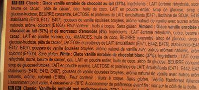 Glace bomboniera classic amande blanc x12 140ml - Ingrédients - fr