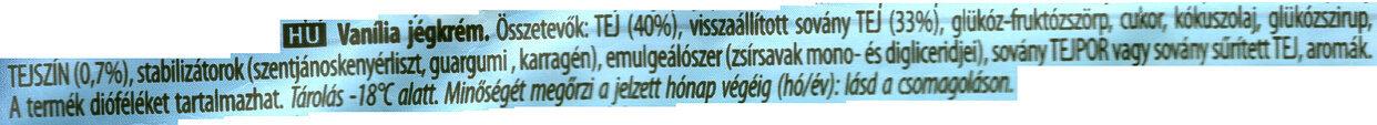 Algida Big Milk Vanilla - Ingredients - hu