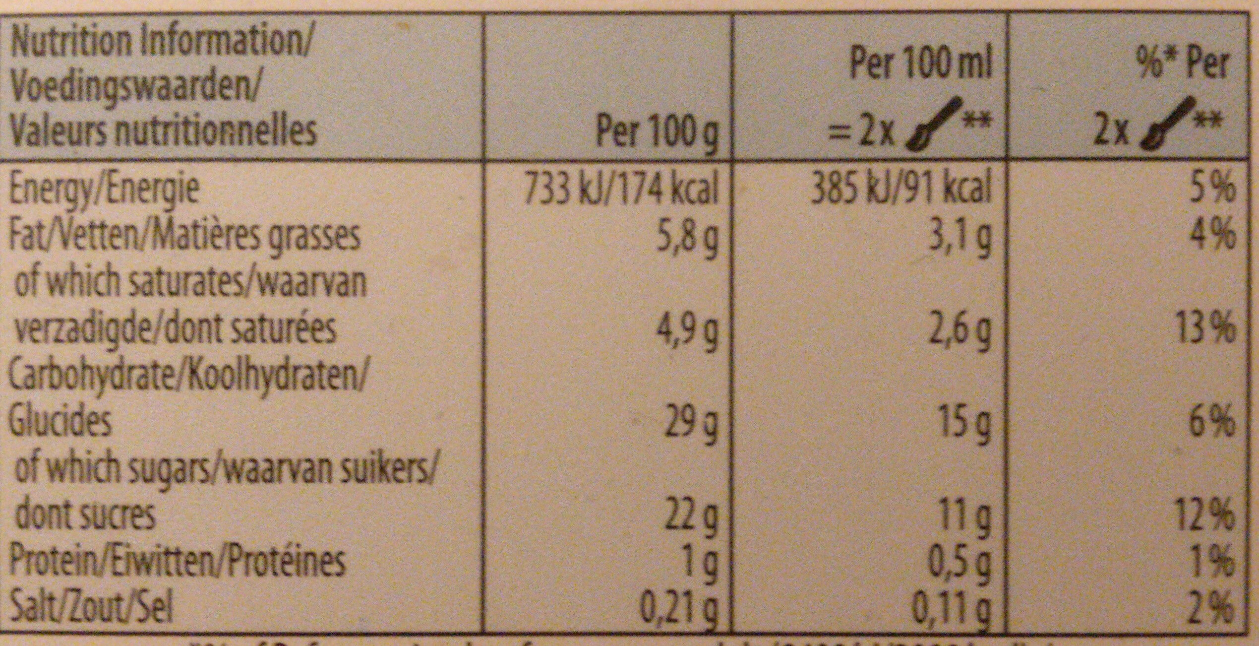 Swedish Glace dairy-free smooth Vanilla - Nutrition facts