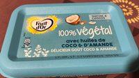 100% végétal avec huiles de coco & d'amande - Produit - fr
