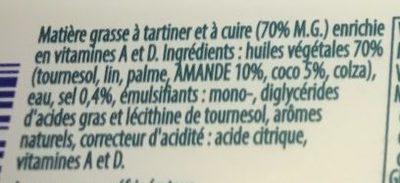 100% végétal avec huiles de coco & d'amande - Ingrédients - fr