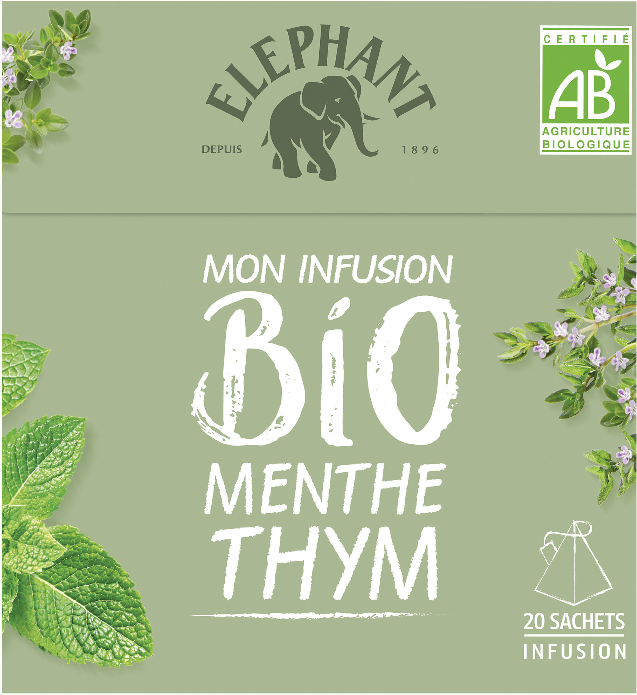Mon Infusion Bio Menthe Thym - Product - fr