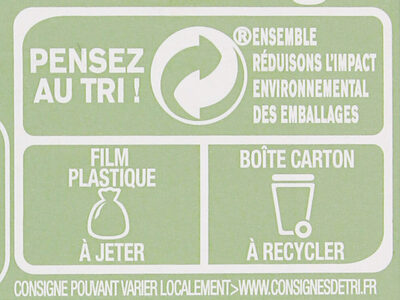 Mon Infusion Bio Menthe Thym - Recycling instructions and/or packaging information - fr