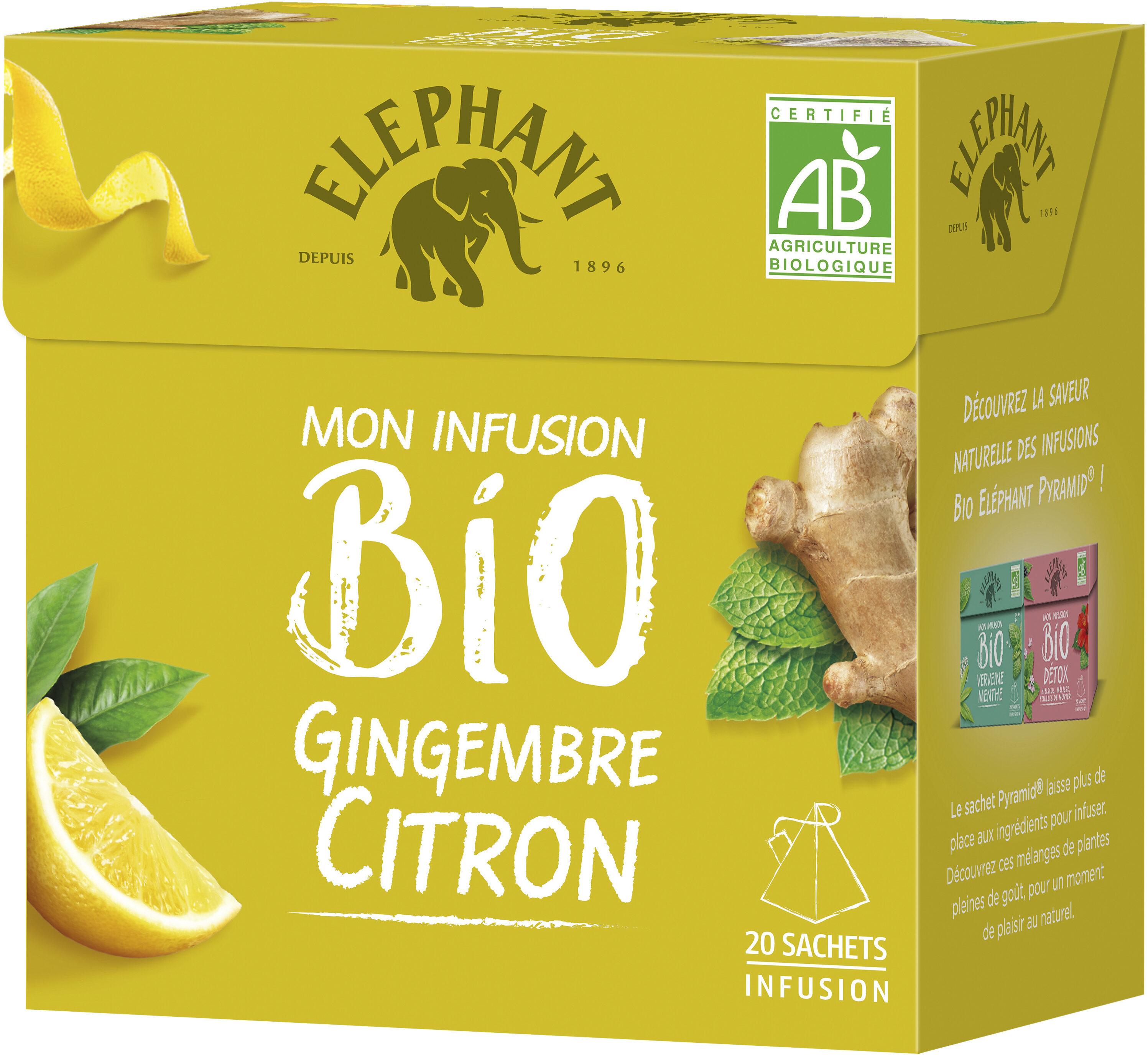 Elephant Infusion Gingembre Citron 20 Sachets - Product - fr