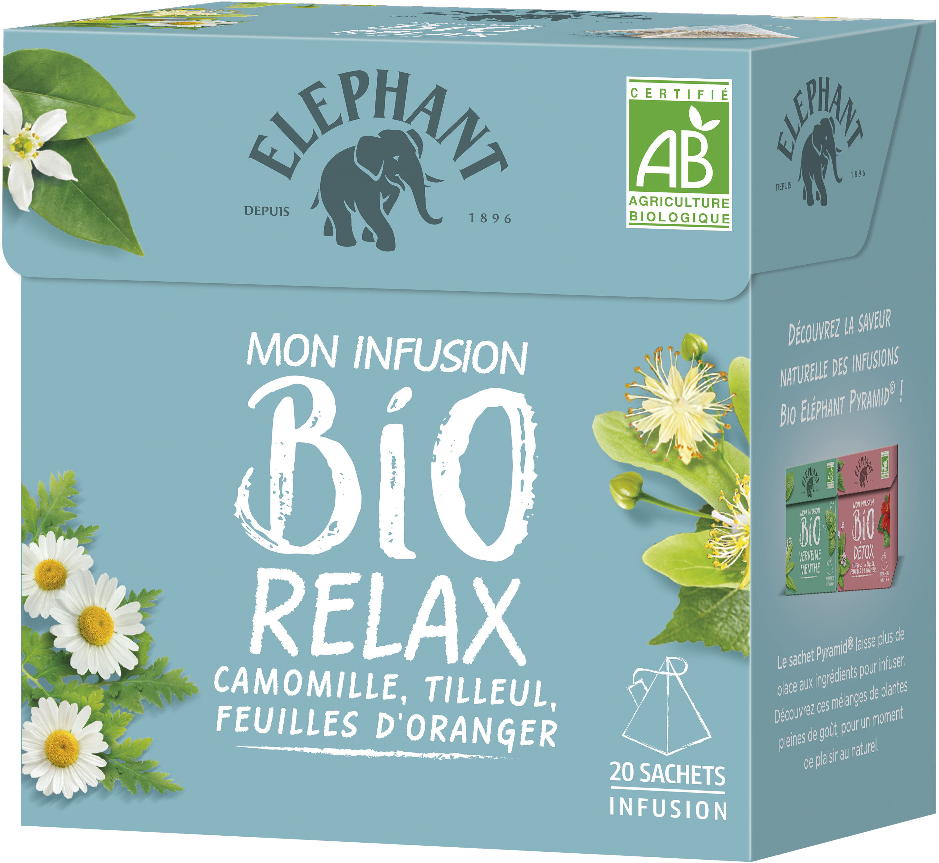 Elephant Mon Infusion Bio Relax 20 sachets - Product - fr