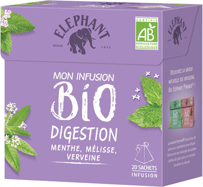 Elephant Tisane Bio Digestion Menthe Verveine 20 Sachets - Product - fr