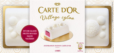 Carte D'or Inspiration Buche Glacée Fruits Rouges Façon Vacherin 8 parts 750ml - Product