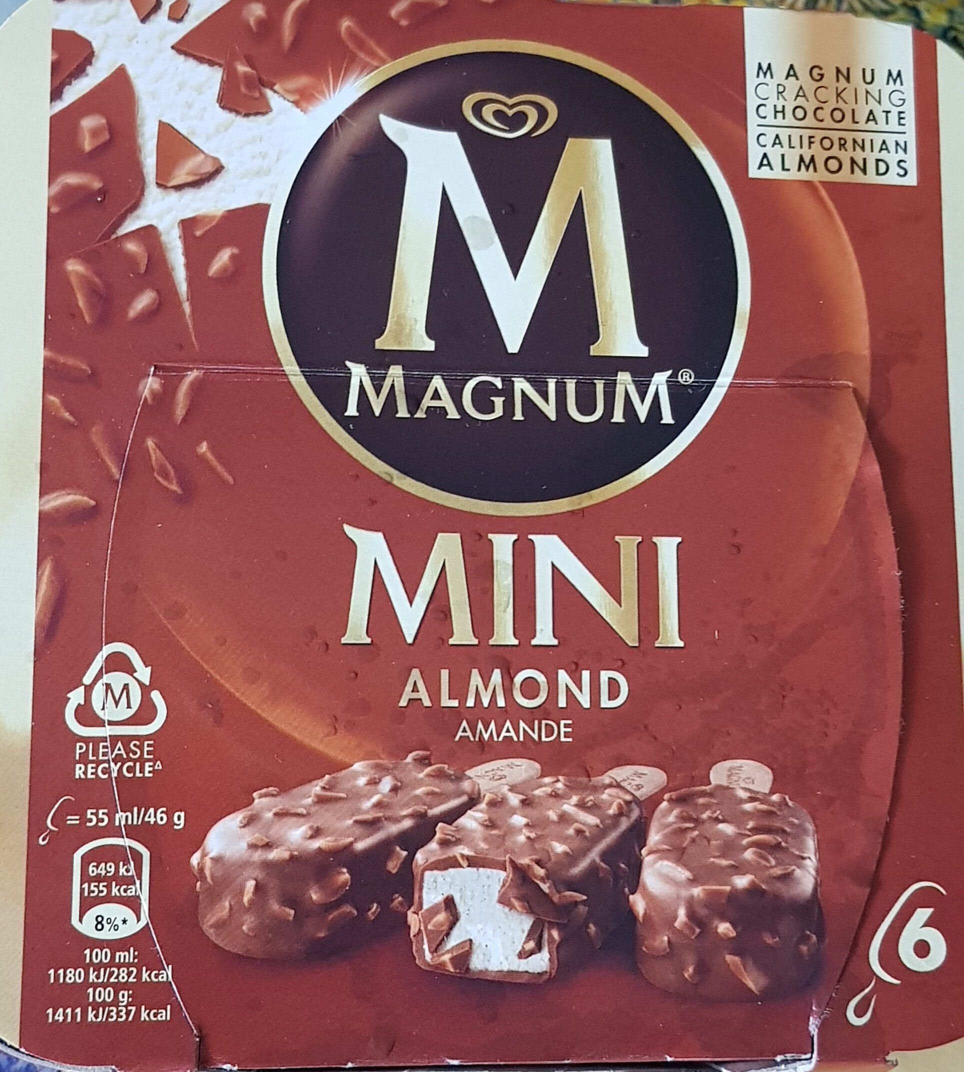 MAGNUM Glace Bâtonnet Mini Amande 6x55ml - Product - fr