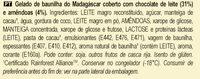 MAGNUM Glace Bâtonnet Mini Amande 6x55ml - Ingredientes - pt