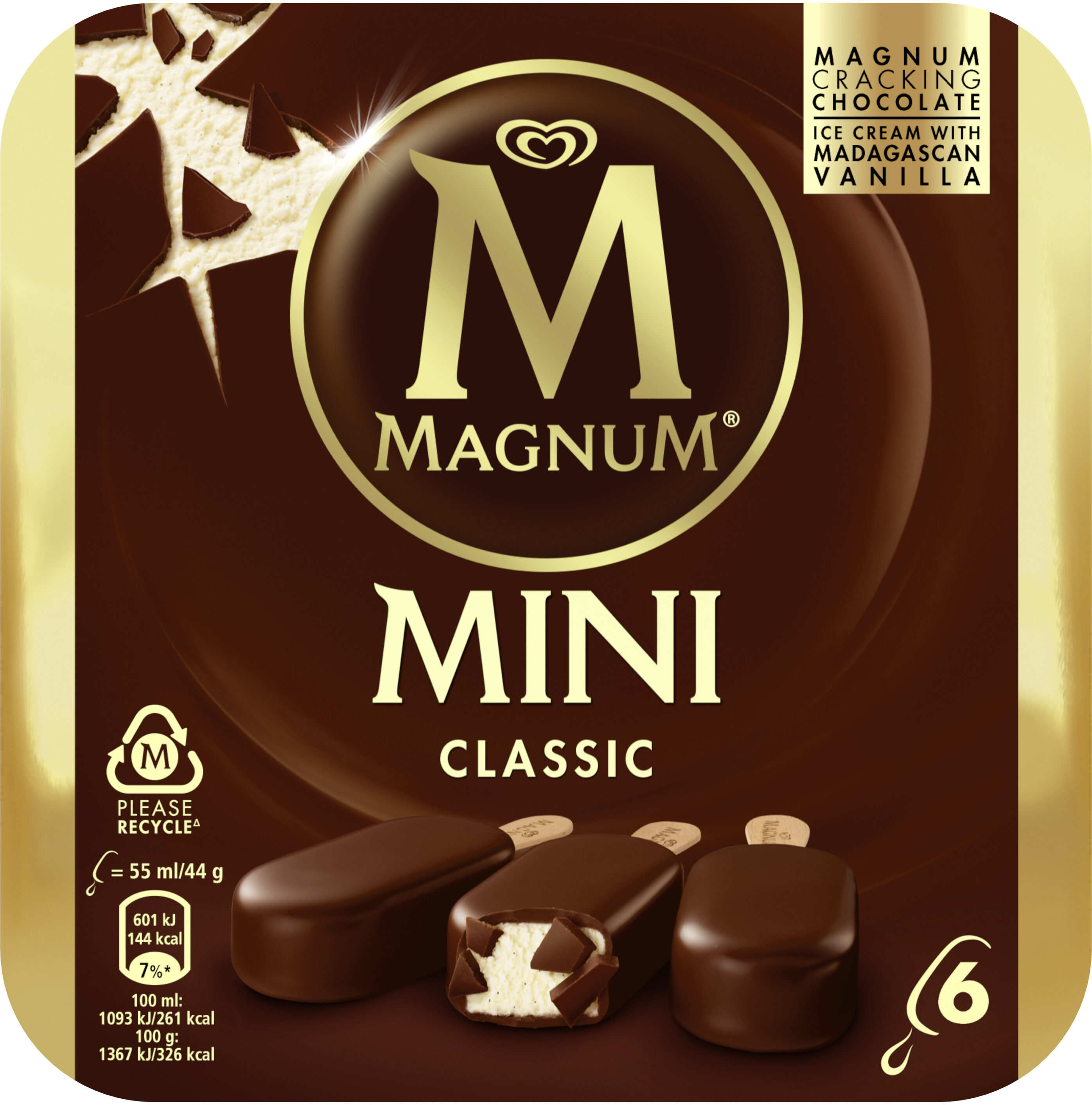Magnum Glace Bâtonnet Mini Classic x6 330ml - Produto - fr