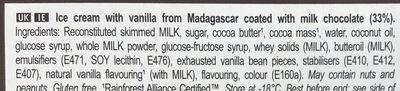 Magnum Glace Bâtonnet Mini Classic x6 330ml - Ingredients - en