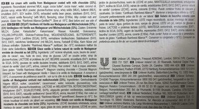 Batonnet Glace Classic x6 330ml - Ingredientes - es